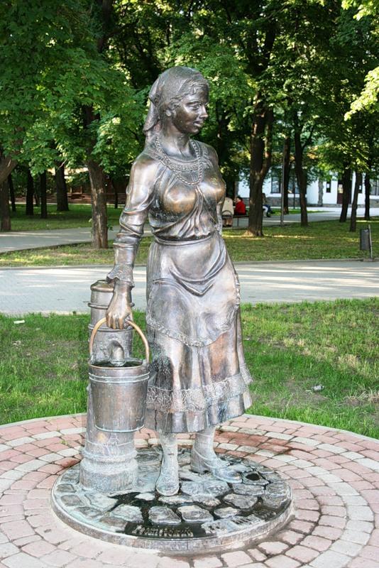 Дама с ведром в Ростове-на-Дону